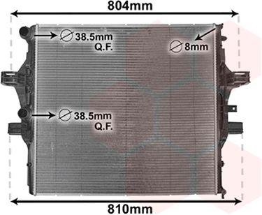 Radiateur, refroidissement du moteur - VAN WEZEL - 28002125