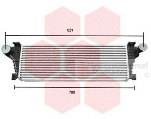 Intercooler, échangeur - VAN WEZEL - 28004021