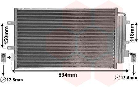 Condenseur, climatisation - VAN WEZEL - 28005127