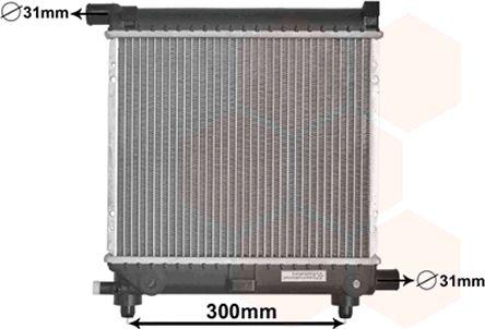 Radiateur, refroidissement du moteur - VAN WEZEL - 30002039