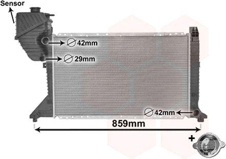 Radiateur, refroidissement du moteur - VAN WEZEL - 30002300