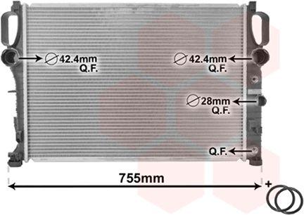 Radiateur, refroidissement du moteur - VAN WEZEL - 30002341