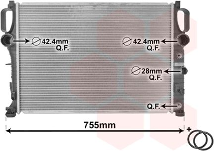 Radiateur, refroidissement du moteur - VWA - 88VWA30002341