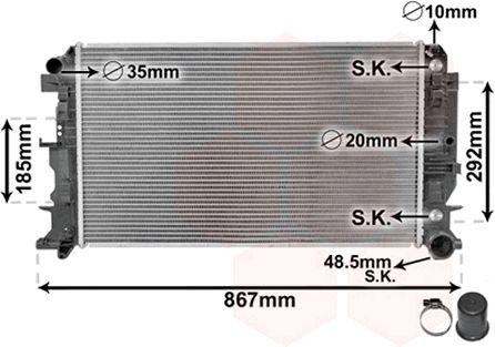 Radiateur, refroidissement du moteur - VAN WEZEL - 30002403