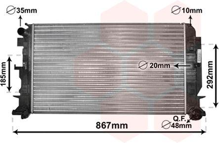 Radiateur, refroidissement du moteur - VAN WEZEL - 30002444