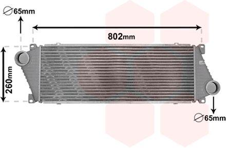 Intercooler, échangeur - VAN WEZEL - 30004217