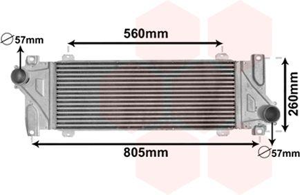 Intercooler, échangeur - VAN WEZEL - 30004448