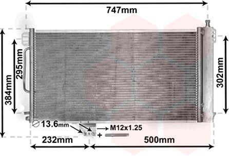 Condenseur, climatisation - VAN WEZEL - 30005200
