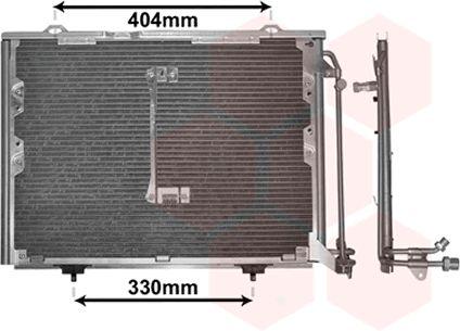 Condenseur, climatisation - VAN WEZEL - 30005207