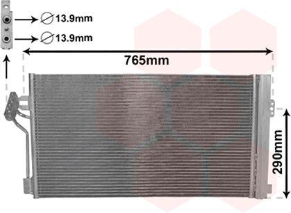 Condenseur, climatisation - VAN WEZEL - 30005352