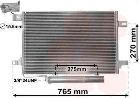 Condenseur, climatisation - VAN WEZEL - 30005382