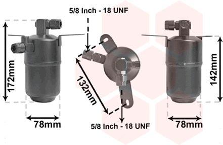 Filtre déshydratant, climatisation - VAN WEZEL - 3000D005