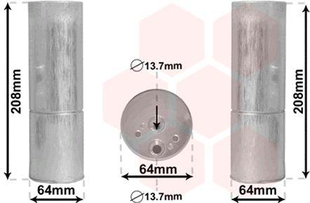 Filtre déshydratant, climatisation - VAN WEZEL - 3000D053