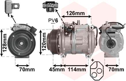 Compresseur, climatisation - VAN WEZEL - 3000K278