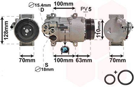 Compresseur, climatisation - VWA - 88VWA3000K434