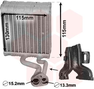 Evaporateur climatisation - VAN WEZEL - 3000V646