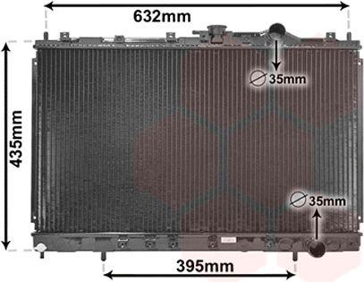 Radiateur, refroidissement du moteur - VAN WEZEL - 32002130