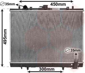 Radiateur, refroidissement du moteur - VAN WEZEL - 32002161