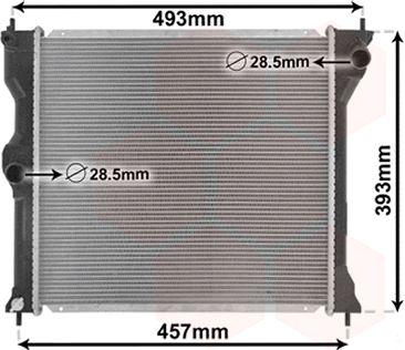 Radiateur, refroidissement du moteur - VAN WEZEL - 32002243