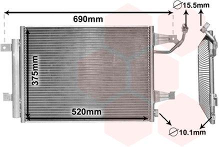 Condenseur, climatisation - VAN WEZEL - 32005177