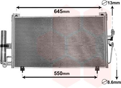 Condenseur, climatisation - VAN WEZEL - 32005213