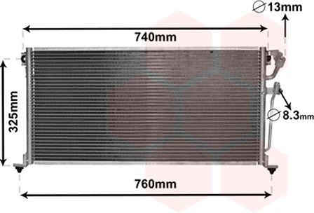 Condenseur, climatisation - VAN WEZEL - 32005220