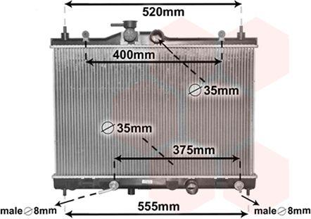 Radiateur, refroidissement du moteur - VAN WEZEL - 33002376