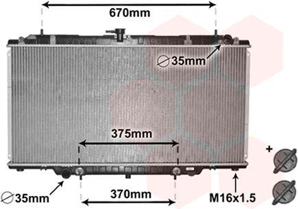 Radiateur, refroidissement du moteur - VAN WEZEL - 33002393