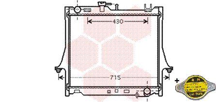 Radiateur, refroidissement du moteur - VWA - 88VWA36002025