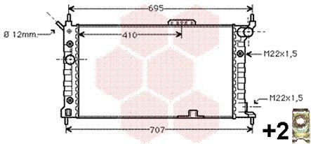 Radiateur, refroidissement du moteur - VAN WEZEL - 37002169