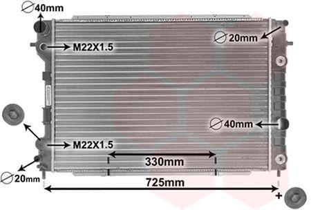 Radiateur, refroidissement du moteur - VAN WEZEL - 37002199