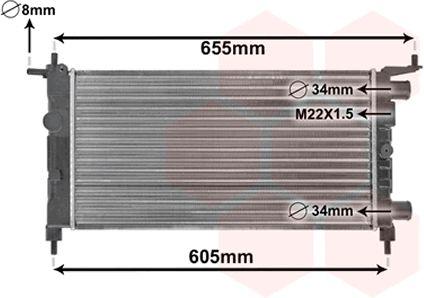 Radiateur, refroidissement du moteur - VAN WEZEL - 37002261
