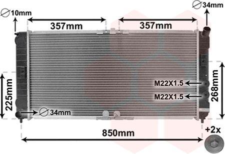 Radiateur, refroidissement du moteur - VAN WEZEL - 37002285