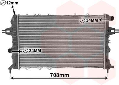 Radiateur, refroidissement du moteur - VAN WEZEL - 37002293