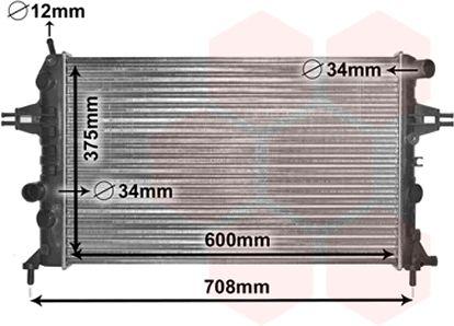 Radiateur, refroidissement du moteur - VAN WEZEL - 37002296
