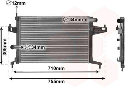 Radiateur, refroidissement du moteur - VWA - 88VWA37002306