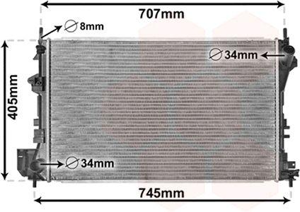 Radiateur, refroidissement du moteur - VWA - 88VWA37002338