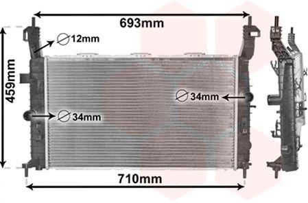 Radiateur, refroidissement du moteur - VAN WEZEL - 37002345