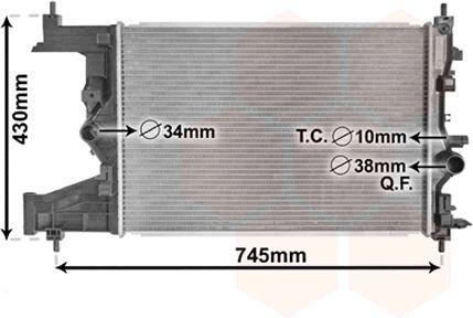 Radiateur, refroidissement du moteur - VWA - 88VWA37002484