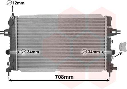 Radiateur, refroidissement du moteur - VAN WEZEL - 37002490
