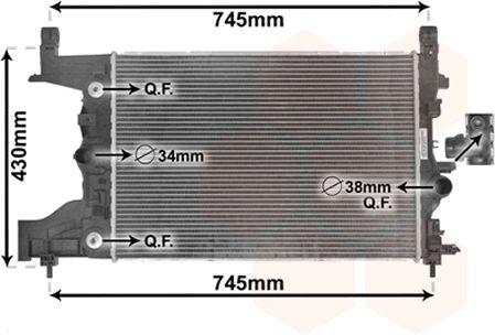 Radiateur, refroidissement du moteur - VAN WEZEL - 37002545