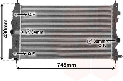 Radiateur, refroidissement du moteur - VAN WEZEL - 37002547