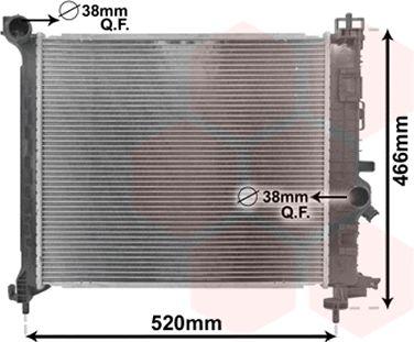 Radiateur, refroidissement du moteur - VAN WEZEL - 37002561
