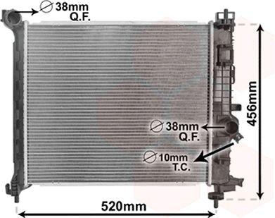 Radiateur, refroidissement du moteur - VAN WEZEL - 37002562