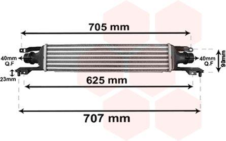 Intercooler, échangeur - VAN WEZEL - 37004420