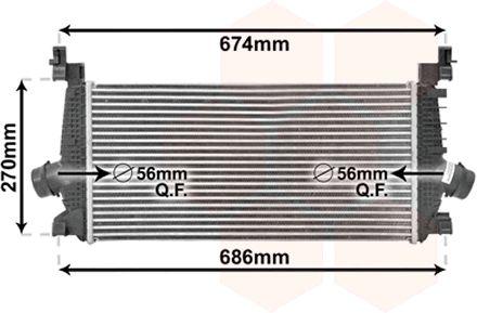 Intercooler, échangeur - VAN WEZEL - 37004548