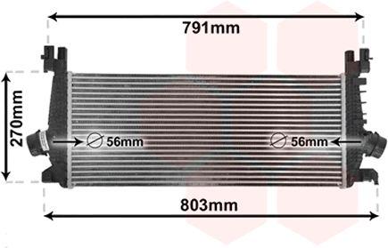 Intercooler, échangeur - VAN WEZEL - 37004549