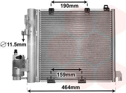Condenseur, climatisation - VAN WEZEL - 37005250