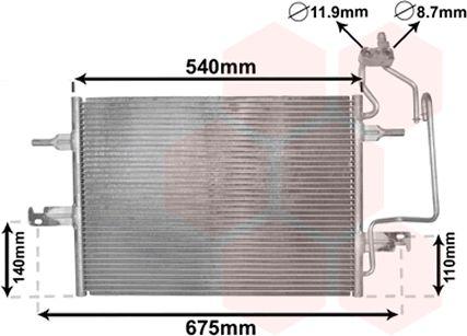 Condenseur, climatisation - VAN WEZEL - 37005349