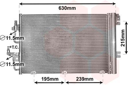 Condenseur, climatisation - VAN WEZEL - 37005366